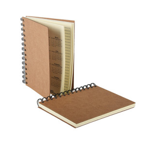Kraft Paper Cover Spiral Notebook with Lined Paper