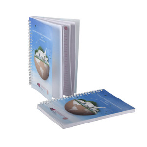 Custom Printed PP Cover Spiral Notebook