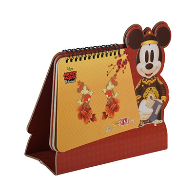 Cute Mouse Shaped New Year Monthly Desktop Calendarr