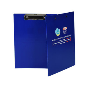 Deep Blue Plastic Clipboards with Custom Print