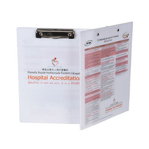Wholesale Custom Print White Thick Acrylic Clipboard