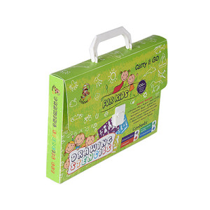 Custom Print Plastic Storage Brief Cases File Boxes with Plastic Handle
