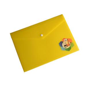 A4 Plastic Envelope Folder with Snap Button Closure