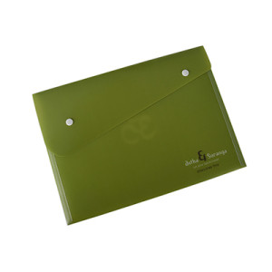A4 Plastic Envelope Folder with Snap Button Closure for School Students