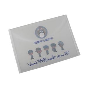 Clear Plastic Envelope Folder with Hook&Loop