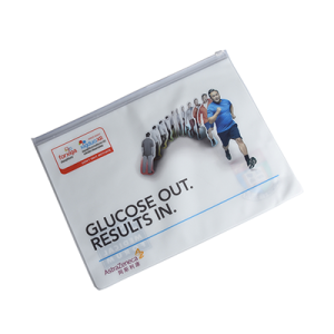 Letter Size Waterproof PVC Zipper Pouch Document Bag for School Office Supplies