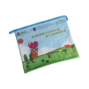 Mesh Waterproof Office File PVC Zipper Bag with Back Card Pocket