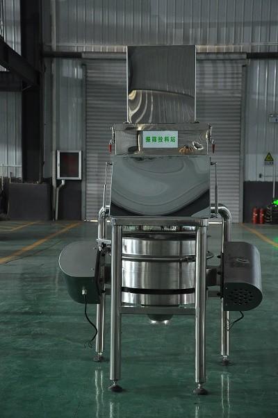 Stainless steel vacuum powder conveyor dust-free feeding station