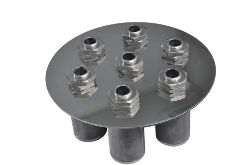 Metal wire sintered filter element