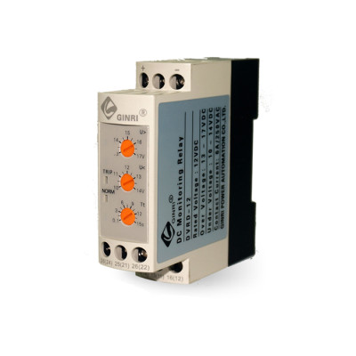 DC Voltage Monitoring Relay DVRD 12V 24V 36V 48V Over/Under Voltage Relay
