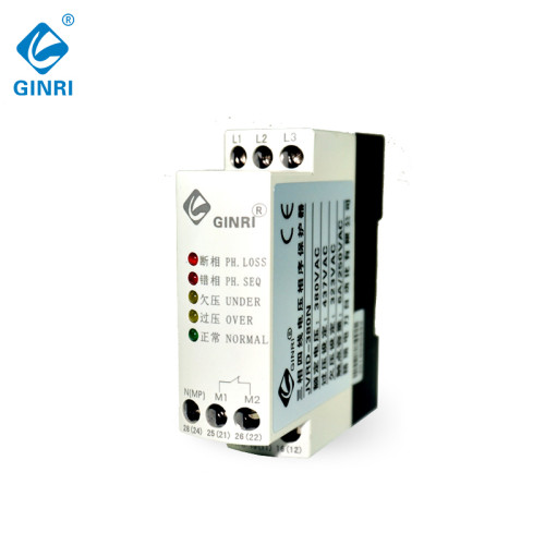 JVRD-380N 3 Phase 4 Wire Voltage Monitoring Relay Neutral Protective Voltage Phase Control Relay 220V 380V