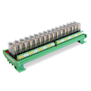 GINRI 16 Channel Relay Module JR-16L1 Omron Relay Board 5V 12V 24V PLC PCB Output Board