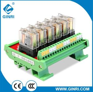 GINRI 6 Channel Omron Relay Board JR-6L1  5V 12V 24V PLC Relay Module