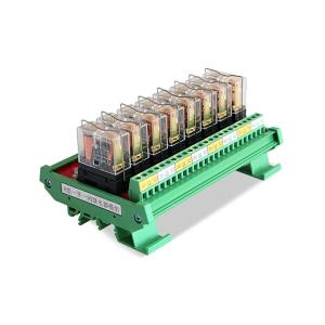 PLC Output Module 8 Channel With Optocoupler GINRI JR-8L1/DC24V 8 Channel Omron Relay Module/Card