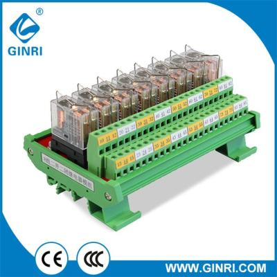 GINRI Omron Relay Module JR-8L2 DC24V 8 Channel DPDT PLC Output Board