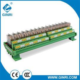 GINRI Omron Relay Module JR-16L2 DC24V 16 Road DIN Rail DPDT PLC Output Amplified Board