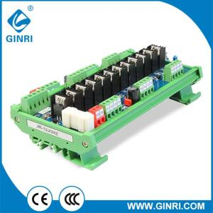 GINRI JR-12J/24 12 Channel PLC transistor Module NPN/PNP 1NO PLC amplifier board DC24V DIN rail Mount