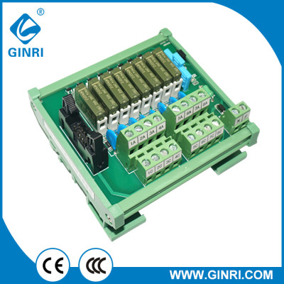 GINRI JR-B8PC-F-FPΣ/24VDC IDC Connector 8 Channel Relay Module PLC Output Amplified Board
