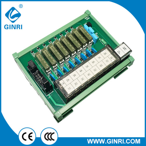 GINRI JR-B8PJ-F 8 Channel DC24V IDC Connector Relay Module Japanese terminal