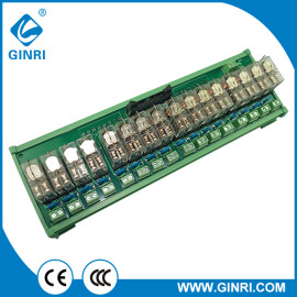 GINRI JR-B16LC-P/24VDC European Type Output Terminal Relay Module 16 Channel 20Pin IDC/MIL Connector