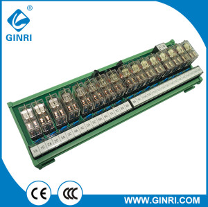GINRI Relay module JR-B16LJ-P/24VDC 16 Channel IDC terminal block Plc Output Interface Board
