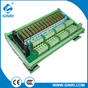 GINRI Relay Module Terminal Block JR-B16PC-F-FX/DC24V 16 Channel panasonic slim relay module with connector