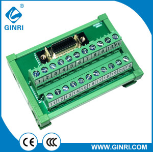GINRI JR-20TSC 20 Pin SCSI Signals Breakout Board Relay Module Female DIN Rail