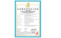 CE certificate for Motor Protection Relay
