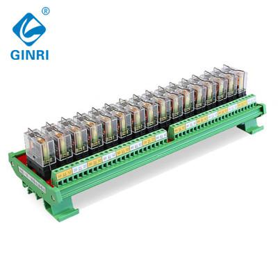 GINRI 16 Channel Omron Relay Module JR-16L1  SPDT Control Board 5V 12V 24V