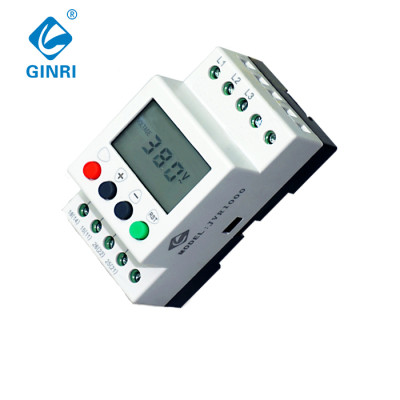 GINRI JVR1000 LCD 3 Phase Voltage Monitoring Relay Phase Failure Phase Sequence Relays 380VAC , 50Hz