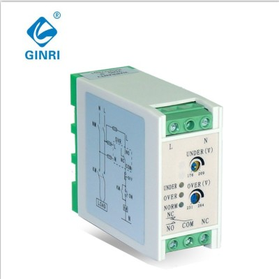 Ginri 3A 220V SVR-220W Single Phase Voltage Protector  Over Under Voltage Relay Adjustable