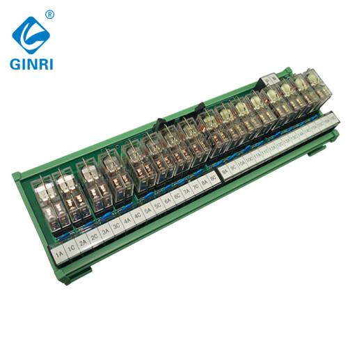 GINRI Relay module JR-B16LJ-P/24VDC 16 Channel IDC terminal block Plc Output Interface Board