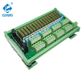 GINRI Relay Module Terminal Block JR-B16PC-F-FX/DC24V 16 Channel panasonic slim relay module with connector
