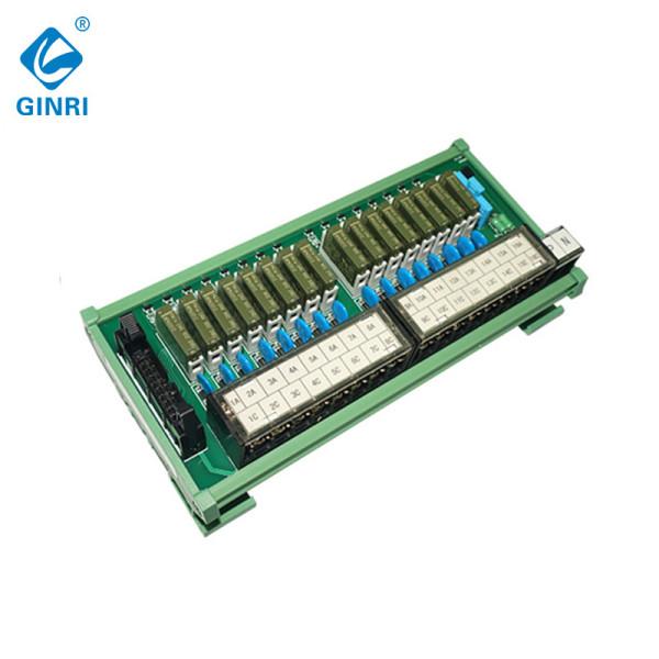 Módulo de relés de salida ginri 16 canal Interface JR - b16pj - F - FX / 24vdc, con conector IDC