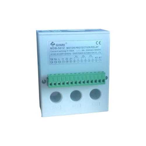 GINRI MDB-501Z LCD Display Protector 3 Phase Voltage Over/Under Load Motor Protection Relay