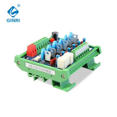 6 Channel SCR Module JR-6K Thyristor Optocoupler I/O Protector PLC AC Output Amplified Board DC24V