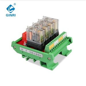 Omron Relay Board JR-4L1 4 Channel Relay Module For PLC Controller DC5V DC12V 24V AC110V AC220V