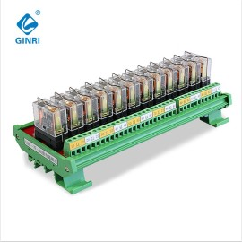 JR-12L1 Relay Module Omron 24v 12 Channel PLC Output Amplified Board