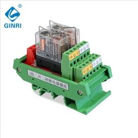 JR-2L2/DC24V Relay Module 2 Channel DPDT PLC Output Board DIN Rail Mounting