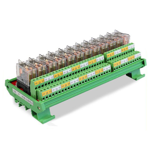 JR-12L2/DC24V Relay Module 12 Channel DPDT Omron Relay Board 110VAC/220VAC