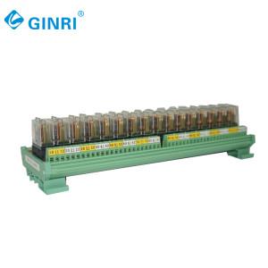 GINRI 16 Channel Relay Module JR-16L1 Omron Relay Board 5V 12V 24V PLC PCB Output Board