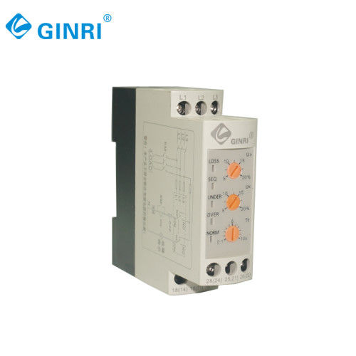 3 Phase Adjustable Phase Loss Protection Device JVRD-380W  Voltage Monitoring Relay