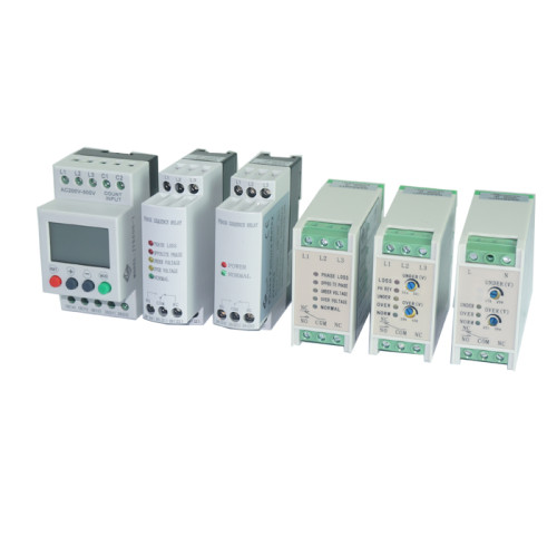 GINRI JVR-380W 3 Phase Adjustable Voltage Monitoring Relay Phase Sequence Failure Unbalance Relay