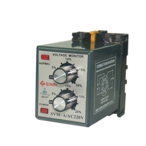 GINRI SVM-A Single Phase 5-20% Adjust 220VAC 5A Over Voltage Protection Relay