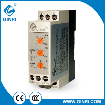 GINRI SVRD-220W Single Phase Over voltage Under Voltage Protection Relay
