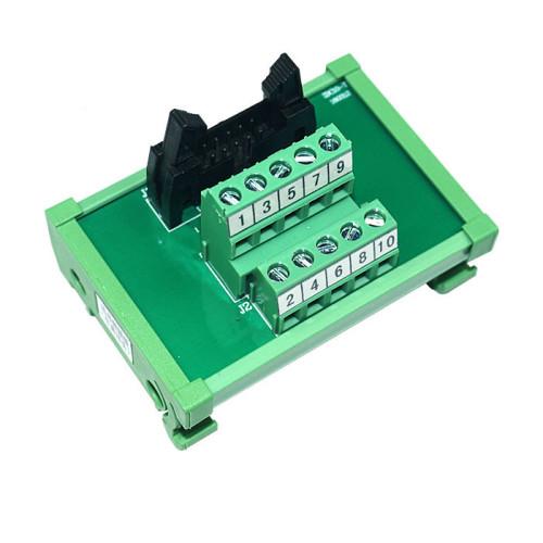 JR-10TBC PLC Output Interface Module  DIN Rail Mounting IDC 10 Breakout Board
