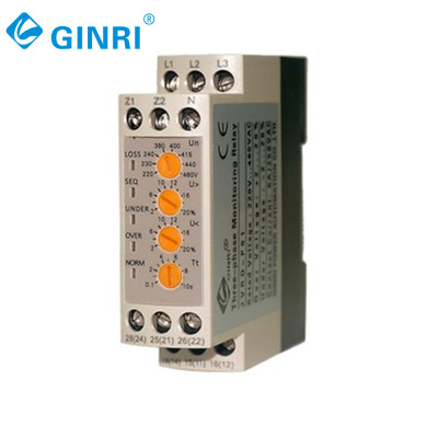 Ginri JVRD-P01 Three phase  over voltage  under voltage monitoring relay 3wire or 4wire