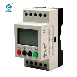 Ginri Three phase Over & under Voltage Protector Relay JVR600-2K 220VAC 380VAC 440VAC
