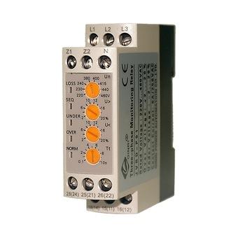 DC three phase  over  under voltage monitoring relay 12V 24V 36V 48V