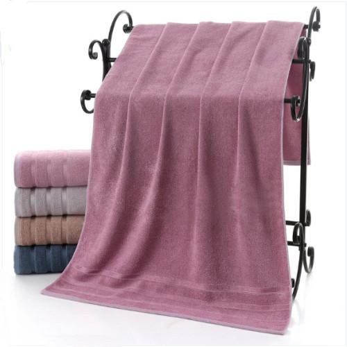 Solid color 100% bamboo fiber bath towel, factory supply, reusable.